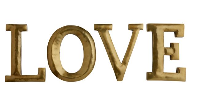 Debenhams - Matthew Williamson, Gold LOVE letters