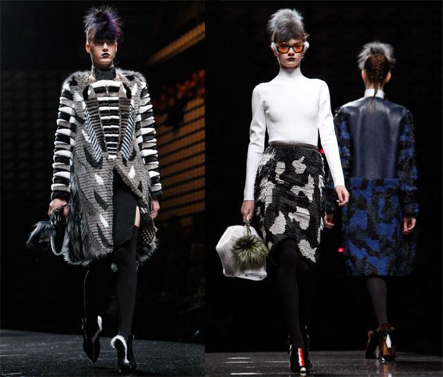 פנדי בשבוע האופנה של מילאנו. צילום: Reuters