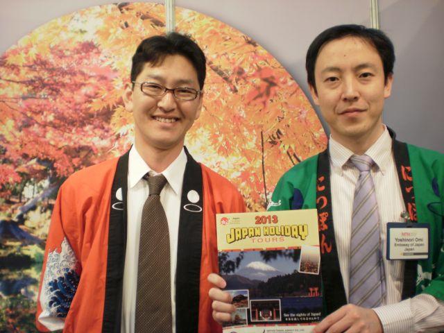 הביתן היפני בתערוכת התיירות. האם בעקבות שמים פתוחים יהיו טיסות ישירות בין יפן לישראל? (צילום: עירית רוזנבלום)