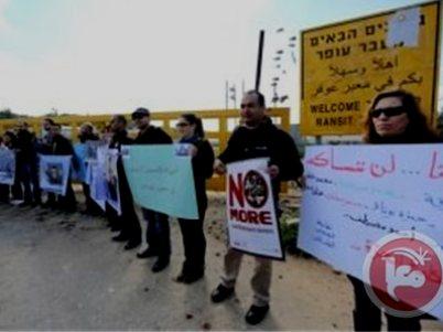 ההפגנות השבוע ליד כלא עופר (צילום: מען)