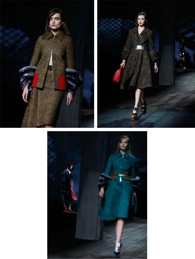 פראדה בשבוע האופנה של מילאנו. צילום: Reuters