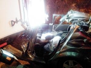 זירת התאונה ליד אריאל (צילום: כוחות הצלה יהודה ושומרון)
