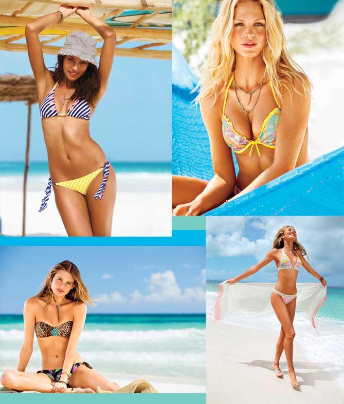"""ועוד בגדי ים מקולקציית """"ויקטוריה'ס סיקרט"""". צילום: Victoria's Secret"""