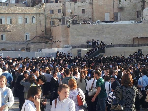 לאחר קריאת הרבנים: אלפי חרדים התנפלו הבוקר על נשות הכותל