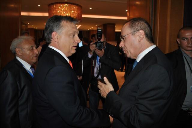 פגישת השר שלום עם ראש ממשלת הונגריה, ויקטור אורבן (צילום: משה בנימין)