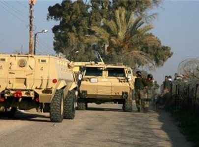 כוחות מצריים באל עריש (צילום: מען)