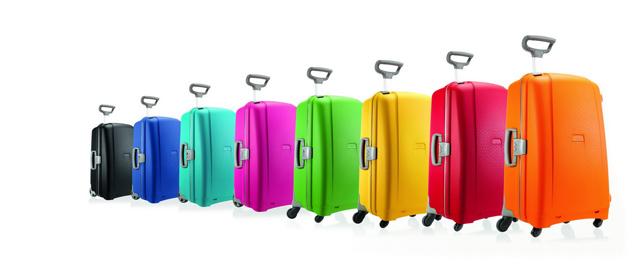 """מזוודות צבעוניות מדגם Aeris, סמסונייט. 1,620 שקלים. צילום: יח""""ץ חו""""ל"""