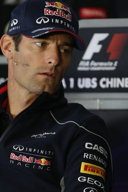 מארק וובר לפני מירוץ הגרנד פרי הסיני 2013. צילום: Pirelli & C. S.p.A. - Pirelli Tyre S.p.A
