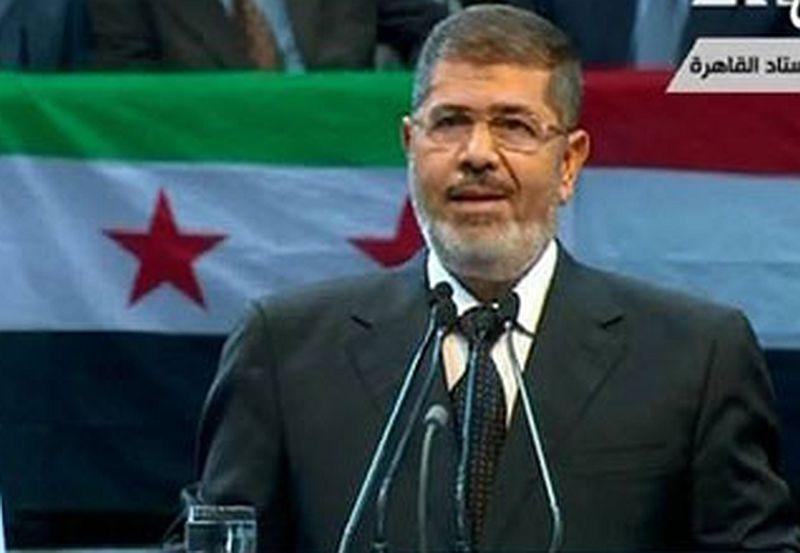 מורסי - מצרים תומכת בהתקוממות בסוריה