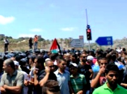המשטרה הגיבה בגז מדמיע  (צילום: אתר פאנט)