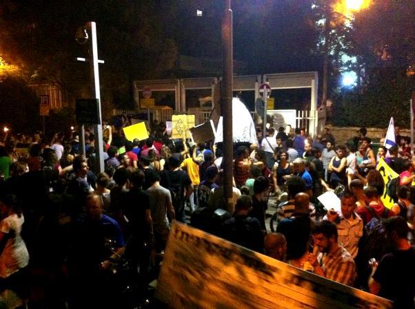 מפגינים בירושלים אתמול (צילום: גלבוע דקר)