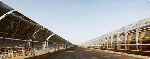מתקן ההדגמה לתחנת כוח תרמו סולארית של שיכון ובינוי. צילום: שיכון ובינוי