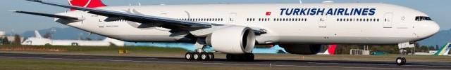"""מסירת מטוס בואינג 777-300 ER לטורקיש איירליינס. המטוס יכול לשאת עד 386 נוסעים בתצורת שלוש מחלקות והטווח המירבי שלו הוא 14,685 ק""""מ."""