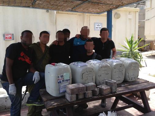 משאית עם סמים נלכדה בגדר המערכת מול מצרים