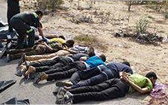 גופות ההרוגים במארב (מתוך דף הפייסבוק - sinainow.tv)