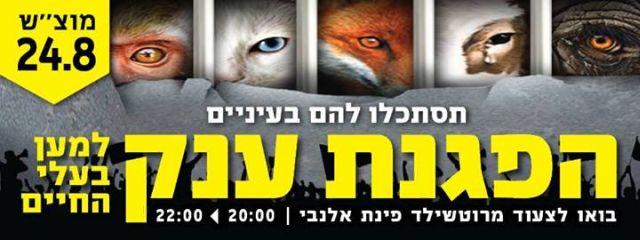 """הערב: צעדת מחאה בינ""""ל נגד סבלם של בעלי החיים"""