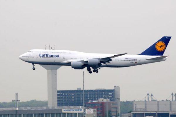 בואינג 747-8 של לופטהנזה. חברת התעופה הראשונה להפעלת דגם זה.