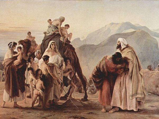 המפגש של יעקב ועשו, מאת פרנצ