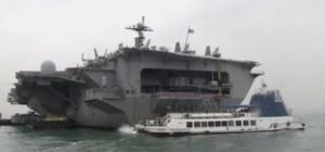 ג'ורג' וושינגטון בדרכה לפיליפינים