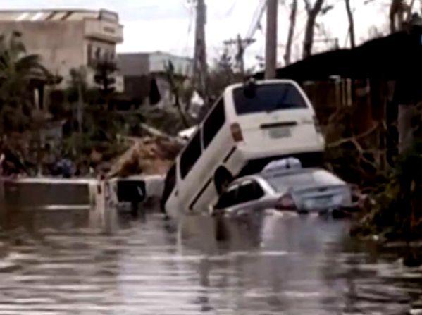שטפונות, הרס ומפולות. טייפון היאן