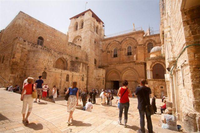 כנסיית הקבר בירושלים. 57% מהמבקרים בירושלים ביקרו בה. (צילום: נועם חן למשרד התיירות)
