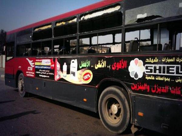 הפיצוץ התרחש סמוך לאוטובוס תלמידים (צילום: אל ג'זירה)