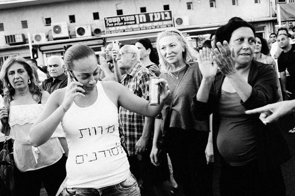 הצילום של תומר נויברג המתעד גזענות ישראלית