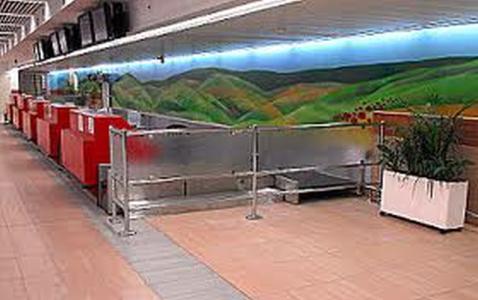 דלפקי קבלת הנוסעים בטרמינל 1