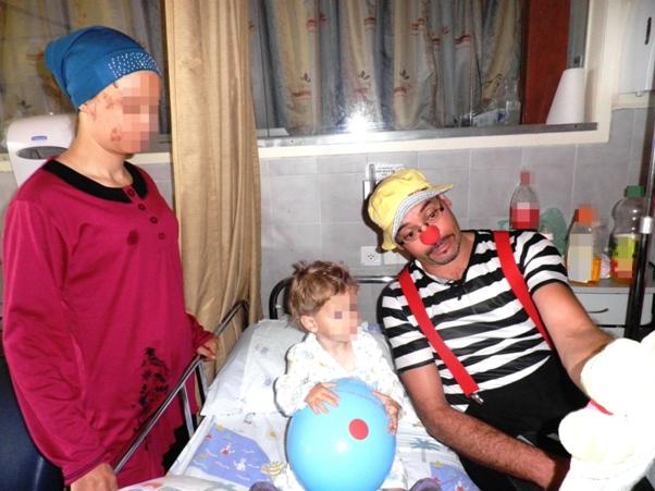 פעוט סורי בן שנתיים וחצי ואמו במרכז הרפואי זיו