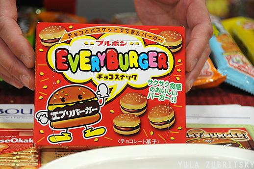 עוגיות קטנות בצורת המבורגר, יפן. צילום: יולה זובריצקי