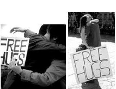"""מתוך דף הפייסבוק של: """"Free Hugs"""""""