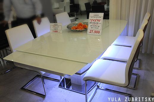 פינות האוכל עם לדים ופתיחה בבקרת שלט. צילום: יולה זובריצקי