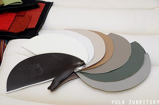 מבחר צבעים של עור ליחידות המערכת. צילום: יולה זובריצקי