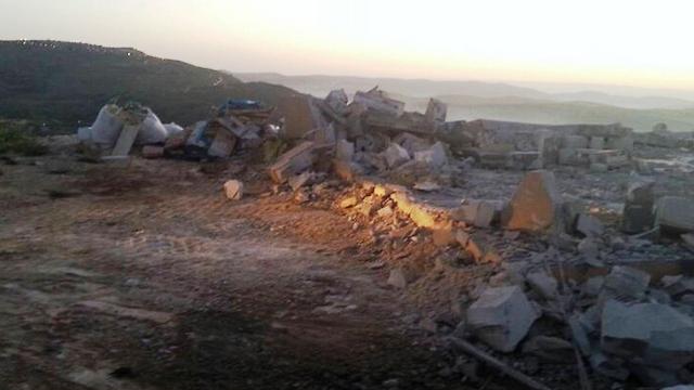 קרקע חשופה אחרי הרס (צילום: דוברות יצהר)