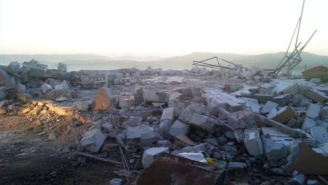 הרס המבנים (צילום: דוברות יצהר)