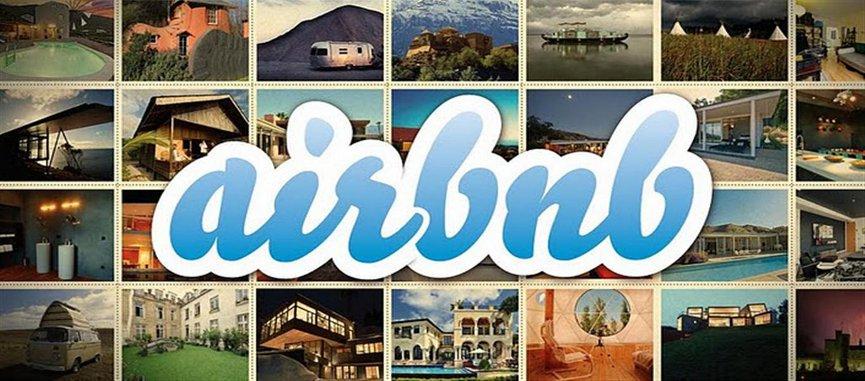 כרזה של אתר Airbnb. אלפי דירות בישראל