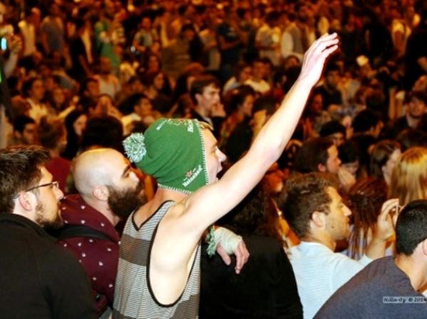 אלפים הפגינו למרות הכל (צילום הילה עוז)