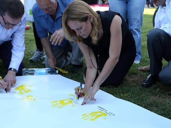 """מאות במצעד למען החיים של עמותת """"אביב לניצולי השואה"""""""