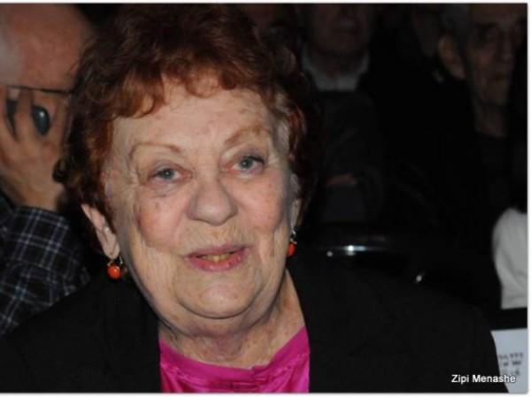 השחקנית חנה מרון, כלת פרס ישראל, הלכה לעולמה בגיל 90