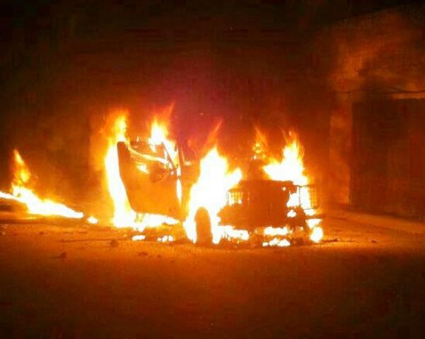 חרדים הגיעו בלילה לכפר ערבי, נחשדו בתג מחיר ומכוניתם הוצתה
