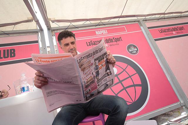 הכל התחיל בעיתון ורוד. צילום: Daniele Bottallo / lapresse. RCS Sport
