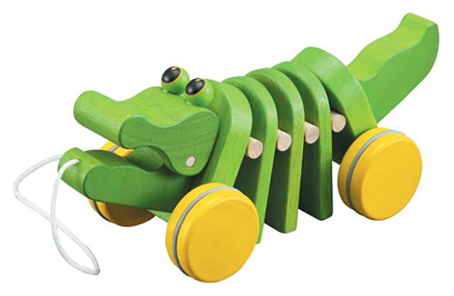 Plan Toys - תנין למשחק מעץ מלא
