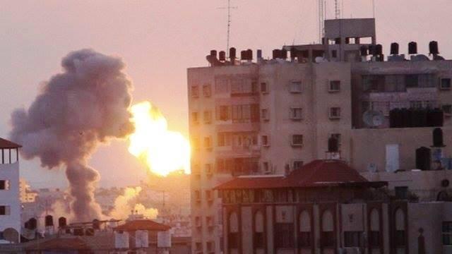 התקיפה בעזה (צילום ארכיון: Gaza news)