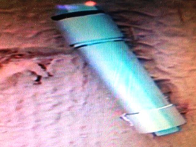 מטען החבלה שנחשף (צילום: דוברות משטרת ישראל)