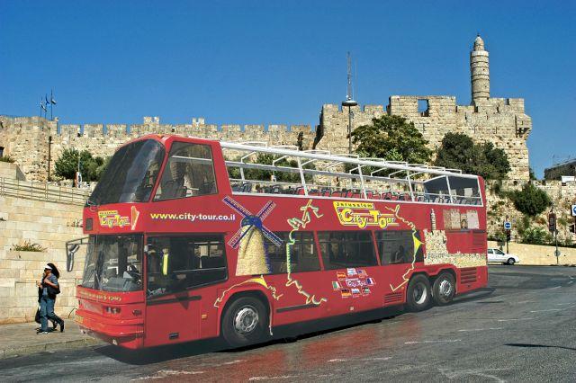 סיטי טור - סיורים פנורמיים בירושלים גם בשבתות. (צילום: יואב שפירא)