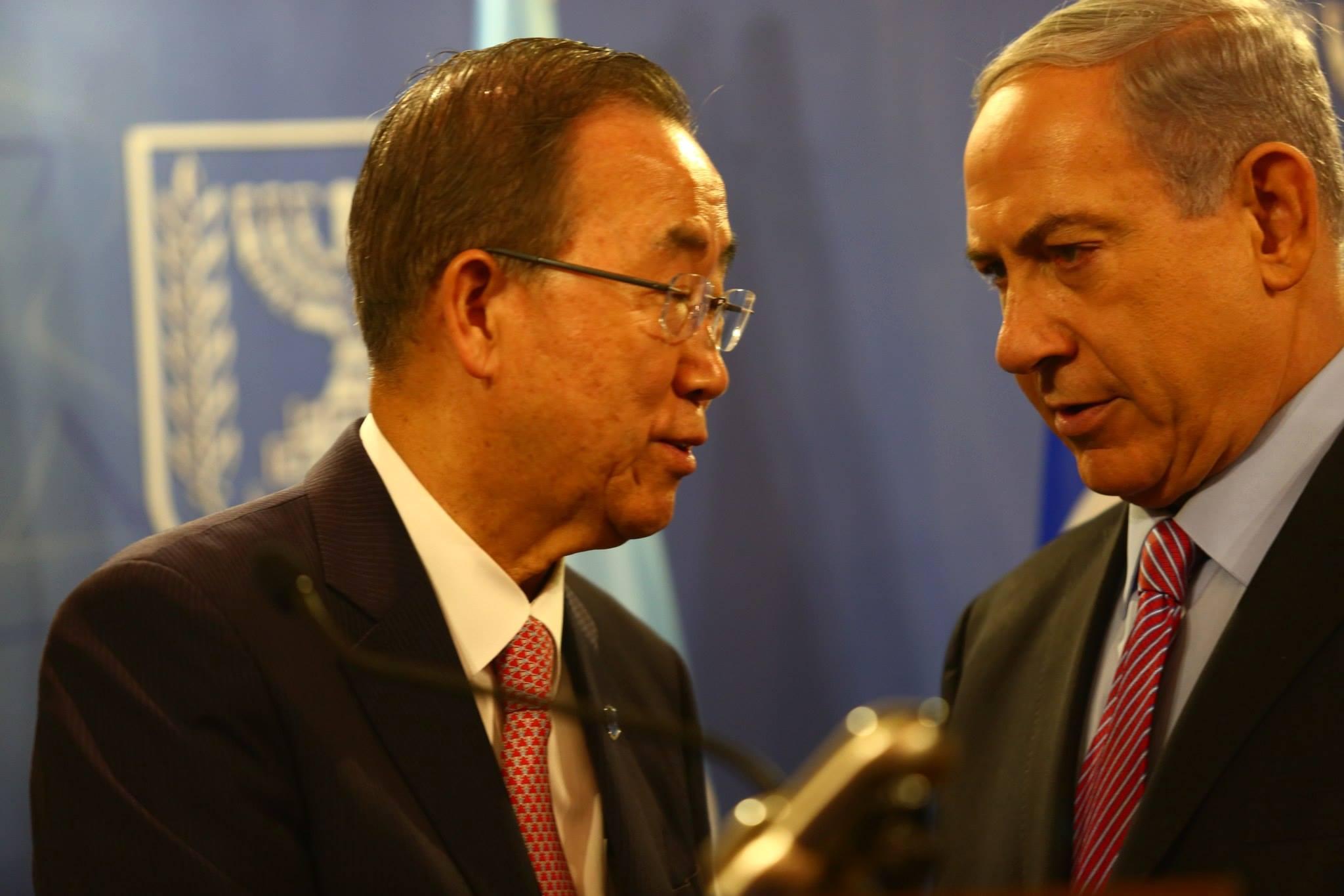 """נתניהו לבאן קי מון: בהודעת נשיאות מועה""""ב אין מענה לצרכי ישראל"""