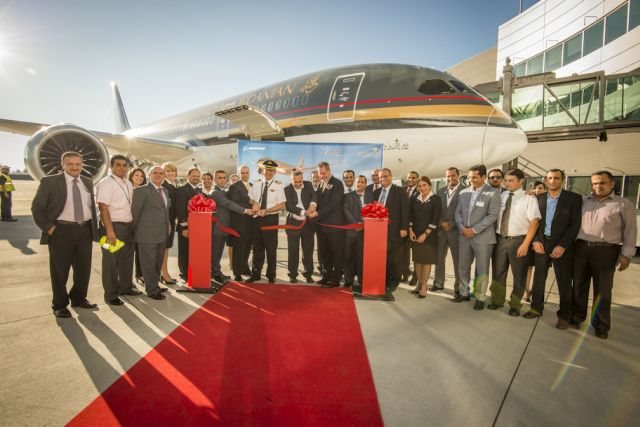 טקס חנוכת מטוס בואינג 787 דרילמיינר הראשון של רויאל ג'ורדניאן בעמאן