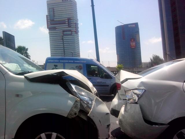 תאונה חזית אחור