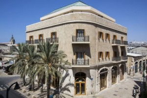 מלון מרקט האוס שוכן בבית אבן משוחזר. (צילום: נתן דביר)
