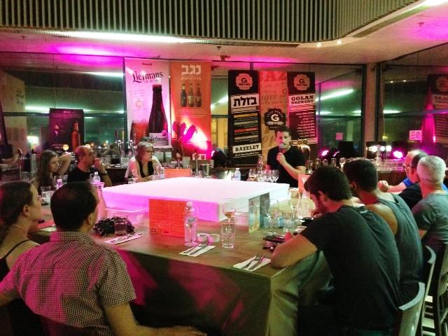 הרצאה על בירה במסעדת 'דיקסי' (צילום: דניאל לילה)